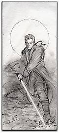 Obi-Wan Kenobi Knights of the Old Republic Miniature art sketch