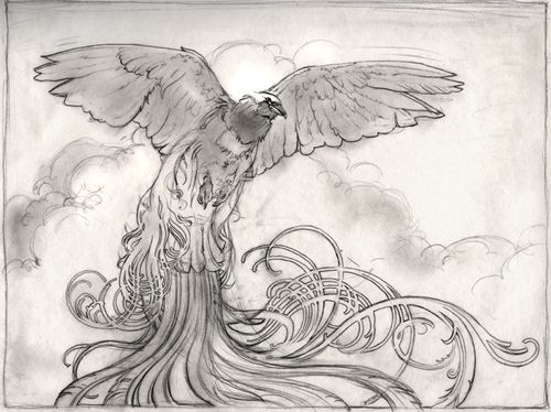Birds of Paradise MtG Sketch