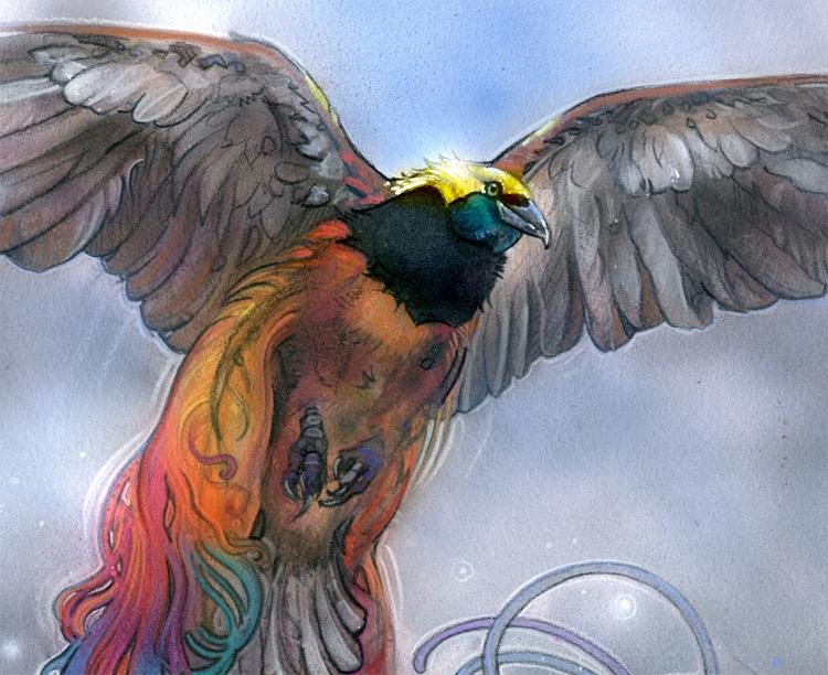 M11 Magic the Gathering Birds of Paradise alter